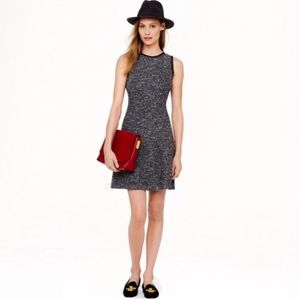 J. Crew Flared Tweed Knit Dress Career Casual